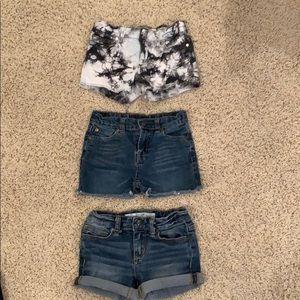 3 pairs of designer shorts